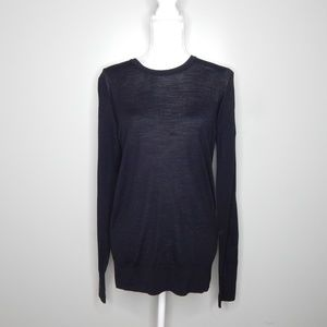 everlane women black wool sweater SZ L